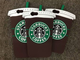 Starbucks 3D Cartoon Silicone Coffee Cup Rubber Phone Case Cover For iphone 6 plus 6S 5S Fashion Cases With Retail OPP Bag Package