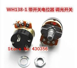Wholesale WH138 B5K Potentiometer with switch potentiometer