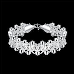 Hot sale christmas gift 925 silver Woven Bracelet DFMCH402,Brand new fashion 925 sterling silver plated Chain link bracelets high grade