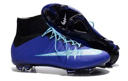 Wholesale mercurial superfly soccer boots with ankle men football shoes superfly fg cr7 botas con tobillera de futbol size