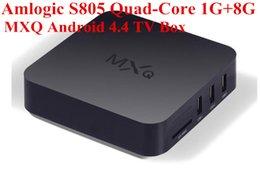 Wholesale 2016 MXQ Android TV Box Amlogic S805 OTT TV Box Android4 XBMC Kodi installed Android Smart Set Top Box MXQ