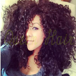 Brazilian Curly Lace Wig Full Lace Human Hair Wigs Kinky Curly Unprocessed U Part Wig With Baby Hair For Black Women