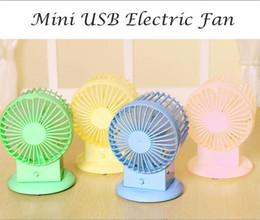Wholesale 4pcs USB Electric Fan Mute Radiator Fan Portbale colorful Fan Dual Motor Blower baby infant cooling desk fan
