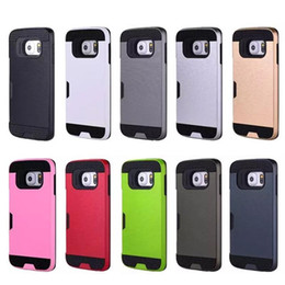 Drawing Process Card Poket Case PC+TPU 2in1 Mobile Phone Case Cover For Iphone 7 6s plus Samsung ON5 LG v20 Moto z style G3 X4 G4 Play Case