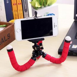 Wholesale Mini Portable Flexible Sponge Octopus Tripod Stand Mount With Holder For Phone Action Camera and Camcorder