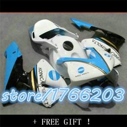 moto body parts for CBR 600 RR 2003 2004 CBR600RR F5 fairings set 03 04 CBR600 white blue fairing kits