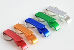 Wholesale 2000pcs key chain metal aluminum alloy keychain ring beer Can bottle opener Openers Tool Gear Beverage custom personalized