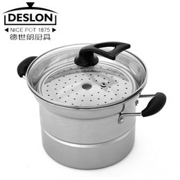 Wholesale High quality full function stainless steel soup pot e t001f stock pot steamer cuisine pot