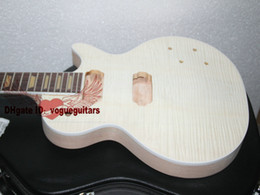 Wholesale Custom Shop one piece mahogany neck Unfinished Electric Guitar Kit With Flamed Maple Top with hardware