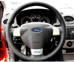Wholesale RS CHROME BADGE STEERING WHEEL CONSOLE DOOR WHEEL FOR FORD FOCUS MK1 MK2 MK3 TI TDCI ST ECOBOOST FIESTA MUSTANG