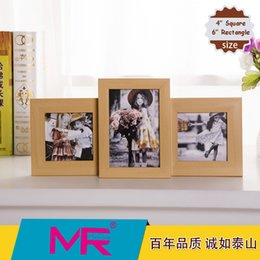 Wholesale 6 and inch photo frame EU simple style design wooden picture frame or aperture rotatable stand picture frame