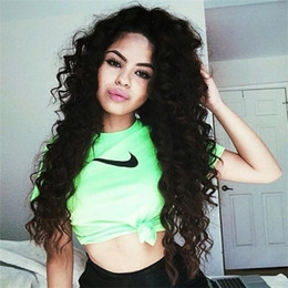 Deep Curly Lace Wig Brazilian Full Lace Human Hair Wigs For Black Women Glueless Curly Full Lace Front Wig