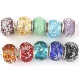 Wholesale High Quality Cute luminous beads Murano Glass Big Hole Bead Fit Original Pandora Charm Bracelet Pendant DIY Jewelry Making