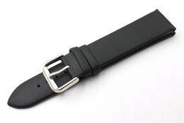 Las ventas calientes de la marca Durable de cuero genuino Ultrafino a prueba de agua de cuero genuino reloj banda hombres mujeres correa negra 14 mm 16 mm 18 mm 20 mm 22 mm gratis