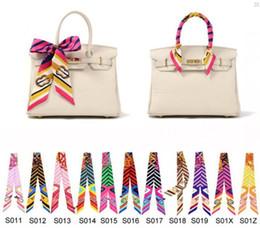 240 Styles MB1-MB7 7 Colors Silk Bag Scarf Twilly Scarfs Ladies Scarf Headband New Fashion Design Handbag Scarves