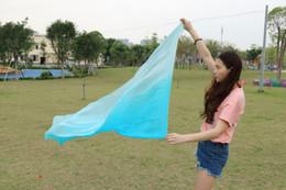 2016 design 100% real silk belly dance veil, cheap dance veils,Rectangular veil wholesale 250*114cm turquoise light turquoise