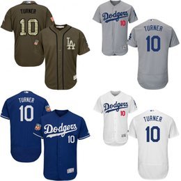 Wholesale Royal Blue white grey green Justin Turner Authentic Jersey Men s Los Angeles Dodgers Flexbase Collection