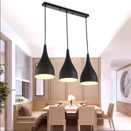 Wholesale 2016 LED Chandelier droplight celling lamp pendent lamp black color in design with Aluminum bracket new style