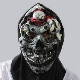 Wholesale Halloween Angry Zombie Horror Mask Full Face Cosplay Ghost Mask Horror Scary Mask Prank Prop for Halloween Party Supplies SW0227