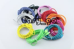 hot 3ft 6ft 10ft Braided round Micro USB Date Sync Charging Cable for Samsung Galaxy S4 I9500 HTC LG Sony wholesale