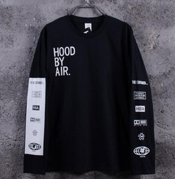 Wholesale New Men s Hood By Air Long Sleeve Tee Shirts Man HBA Hip Hop t shirts Been Trill Printed tshirts Men Camisetas Clothing
