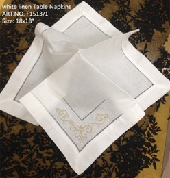 """Home Textile 12PCS Lot Elegant French styling white linen Table Napkin18""""x18""""Wedding decoration Best Quality makes any guest feel welcome"""