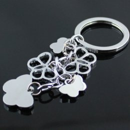 Wholesale Cute Butterfly Keychain - Cute Butterfly Keychain Key Chain Key Ring Keyring Key Fob Gadget Trinket Souvenir Christmas Gift 30PCS LOT Free Shipping