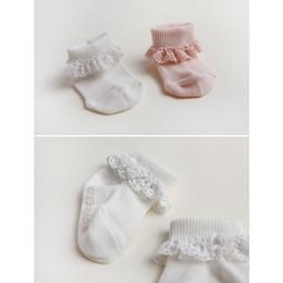 Cute Korea Style children socks baby girls cotton lace socks Hollow Socks kids antiskid socks leg children Stockings Kid Gift 20PAIRS LOT