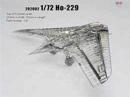 Wholesale 1 HO Stealth fighter Building Kits D Scale Models DIY Metallic skeleton Nano Puzzle Need glue best quality diy model