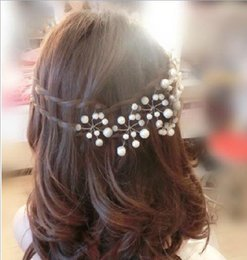 Wholesale real picture bridal hair pins clips accessories for wedding hot bridal Bridesmaid white red pearls hair piece hairpin clip accessory