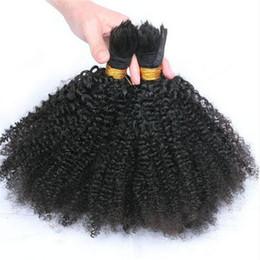 Afro Kinky Curly Human Hair Bulk Factory Price Grade 8a Brazilian Hair No Weft Curly Braid