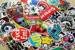 Wholesale 100 Mixed Decal Car Styling Skateboard Laptop Luggage Snowboard Car Fridge Phone DIY Vinyl Decal Motorcycle Stickers