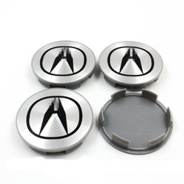 Wholesale NEW ACURA PC SET SILVER WHEEL CENTER HUB COVER LOGO CAPS MM RIM EMBLEM BADGE