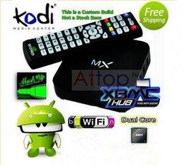 Wholesale MX MX2 TV Box Android ICS Kodi Helix Full Loaded Film Smart G BOX Youtube R28 Hub Media Player Navi X G G AML8726 Dual Core
