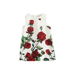 Prettybaby Rose flower printing sleeveless sundress girls rural style zip back princess dresses European Style brand dress Pt0441#