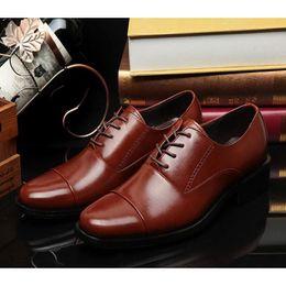 Wholesale Mens Business Shoes Genuine Leather Mens Dressing Shoes Big Size Men Pinted Toe Shoes Black And White Men Dress Shoes Mens Brown Dress Shoes