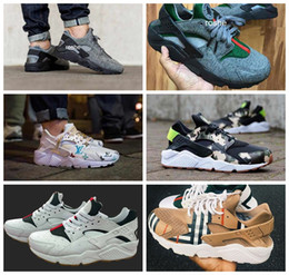 Wholesale 2017 New Style Air Huarache Running Shoes For Men Women High Quality Huaraches Famous Brand Custom Designer Sneakers Eur Size