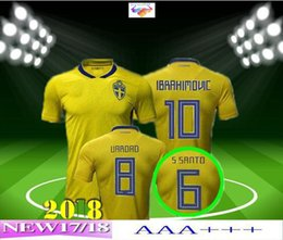 Swedish home yellow would cup New season men IBRAHIMOVIC Soccer Jerseys Shirts LJUNGBERG best quality cheap,wholesale Football suit sets