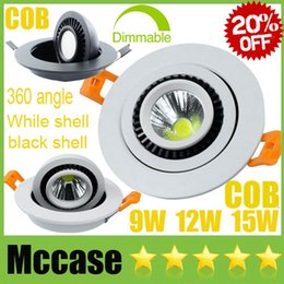 Wholesale 20 OFF angle COB W W W Dimmable LED Downlights V Tiltable Fixture Recessed Ceiling Spot Down Lights Lamps FOR Shop market