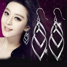 Top Grade Silver Earrings Hot Sale Drop Dangle & Chandelier Earrings For Women Girl Wedding Party Fashion Jewelry Wholesale - 0048WH