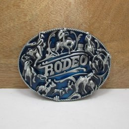 BuckleHome rodeo belt buckle animal belt buckle with pewter finish plating FP-02849 free shipping