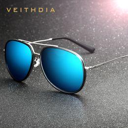 Wholesale-2016 Summer VEITHDIA Brand Pilot Unisex Polarized Men Sunglasses Vintage Women Sun Glasses Eyewear oculos de sol masculino 2725