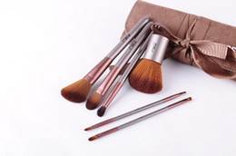 Wholesale MSQ Travel Makeup Brushes Kit Face Care Soft Synthetic Hair Acrylic Handle With Canvas Beauty Case