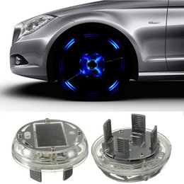 Wholesale New Modes pc LED Car Auto Solar Energy Flash Wheel Tire Rim Light Lamp Decoration
