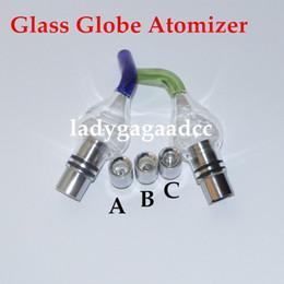 Wax Vaporizer Dual Quartz Coils with Inclined Mouth Quartz Ceramic Tube Dual Coils Coils Glass Globe ECigs for 510 thread battery