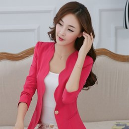 Free shipping 2017 spring new female small suit jacket Slim Korean temperament ladies short paragraph small suit leisure suit tide