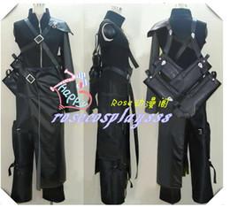 Wholesale Final Fantasy VII Advent Children Cloud Strife Cosplay Costume Top sword backbag pants apron shoulder Armor Gloves wolf badge