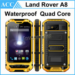Wholesale ALPS Land Rover A8 Waterproof Rugged Phone Inch MTK6582 Quad Core GB RAM GB ROM MP Camera Dual SIM G WCDMA Outdoor Smart Phone