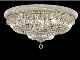 Wholesale Crystal Ceiling Light Fixture Chrome Crystal Ceiling Light Lamp Light Beautiful Guaranteed