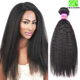 Wholesale Grade A Kinky Straight Virgin Hair Queen Hair Products Unprocessed Brazilian Human Hair Weave Bundles Brazilian Coarse Yaki Straight Hair
